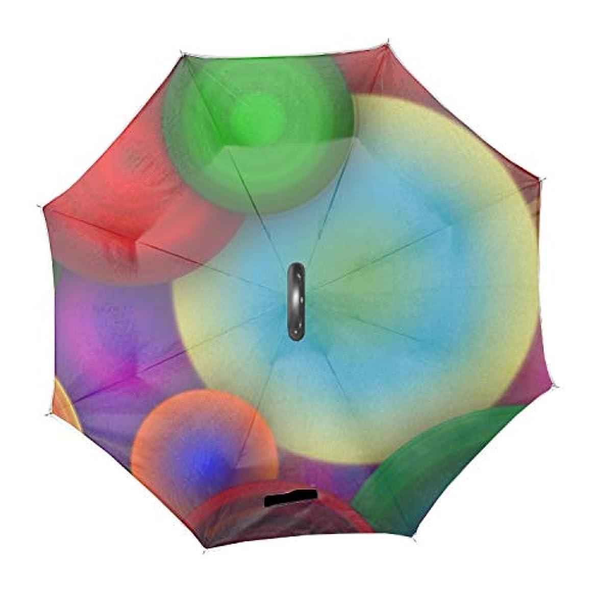 アルネ見積り地下反転傘 便利傘 長傘 逆傘抽象的なパターンアート 梅雨対応 風に強い 晴雨兼用 日傘 UVカット UPF50+ 8本骨 完全遮光 遮熱 耐風 C型傘