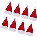 SONONIA 8個入り クリスマス ワインボトルカバー キャップ 帽子 カトラリーケース ディナーパーティー テーブルウェア 装飾