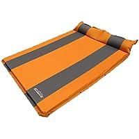 カーインフレータブルベッドエアクッション旅行スリーピングパッドカー用品マットレスオレンジ(多色オプション)