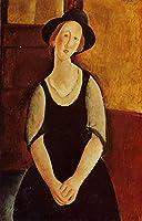 手描き-キャンバスの油絵 - thora klinckowstrom 1919 Amedeo Modigliani 芸術 作品 洋画 ウォールアートデコレーション -サイズ10