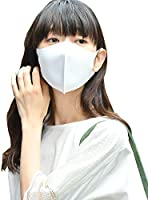パステルマスク 洗って使える3Dデザインマスク3枚入りレギュラーサイズ 男女兼用 オフホワイトセット 冷感 UV加工 抗菌防臭 ストレッチ