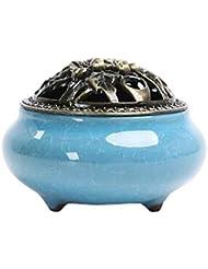 Chinashow セラミック 香 バーナー 香 スティック ホルダー コーン バーナー 磁器 香 ホルダー ホーム 脱落 スカイ ブルー