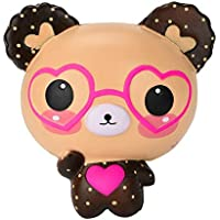 YIKAKIO ★ 2018ストレスを解消するのかわいいメガネグマちゃん子供玩具ギフト