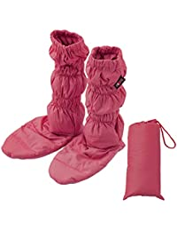 エムール 洗える 羽毛ロングブーツ ワイン 収納袋付き 5色から選べる