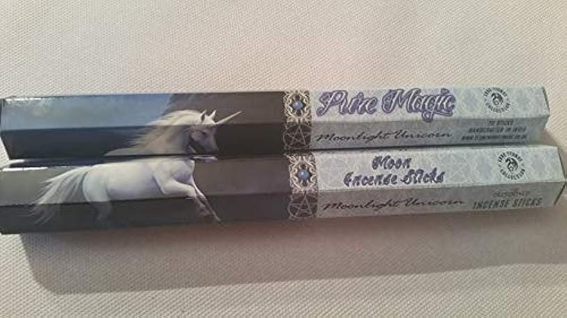 平野乳シェードPack Of 6 Moonlight Unicorn Incense Sticks By Anne Stokes