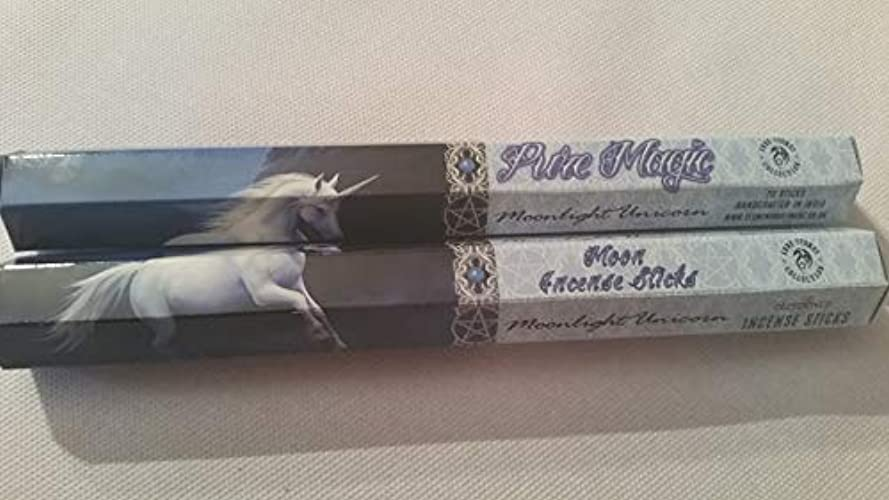 現実的考えた以前はPack Of 6 Moonlight Unicorn Incense Sticks By Anne Stokes
