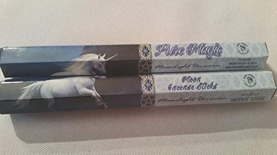 腐った経験者教科書Pack Of 6 Moonlight Unicorn Incense Sticks By Anne Stokes
