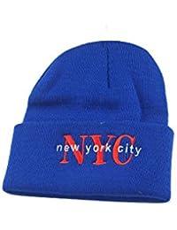 (ニューハッタン)NEWHATTAN ACRYLIC NYC アクリルニットキャップ ロイヤル 16098