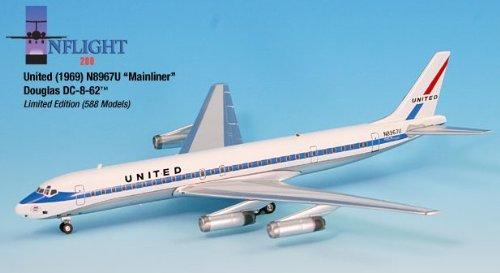1: 200 インフライト ユナイテッド 航空 DC-8-62 1969 Mainliner Colors (並行輸入)