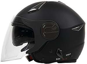 ダブルシールド装備 ジェットヘルメット マットブラック