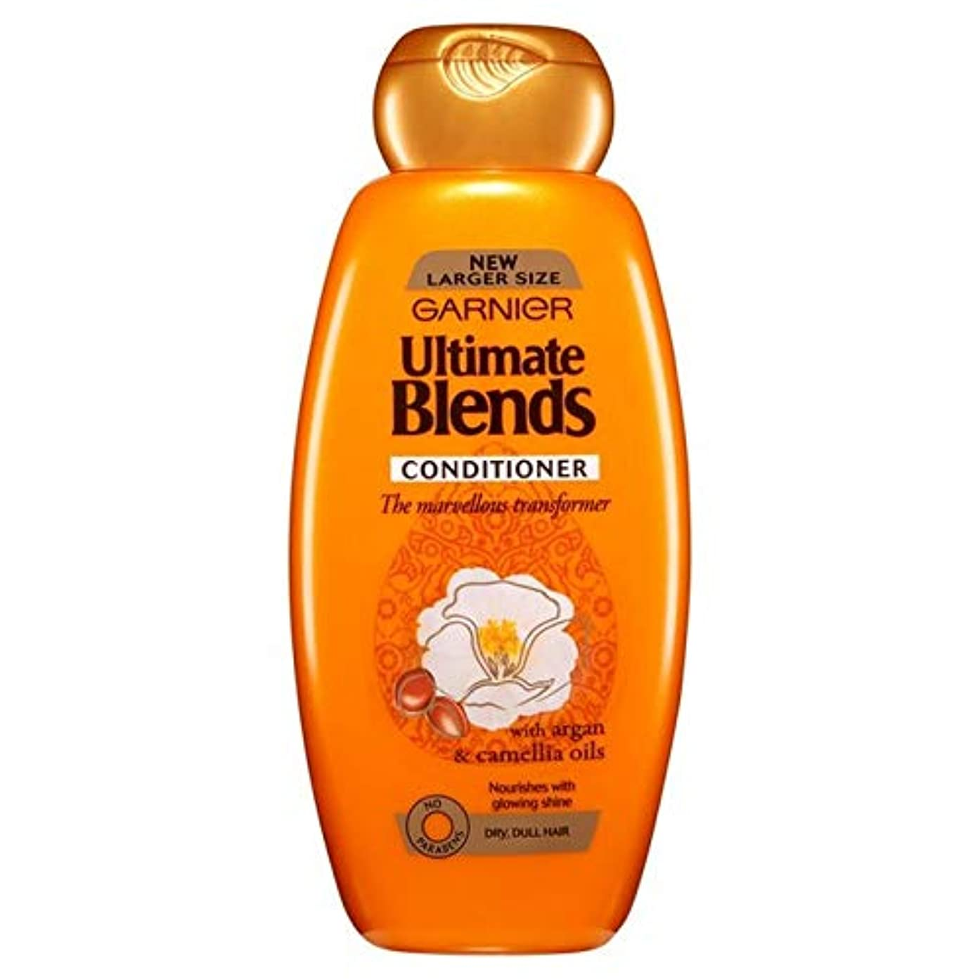 ベイビーレンズお嬢[Garnier ] ガルニエ究極は、アルガンオイル光沢のあるヘアコンディショナー600ミリリットルをブレンド - Garnier Ultimate Blends Argan Oil Shiny Hair Conditioner...
