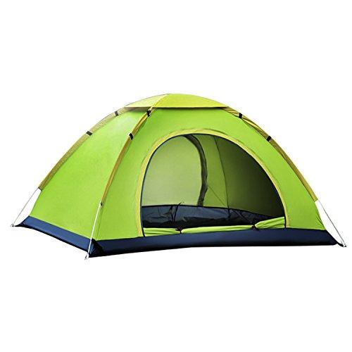 HIKING ワンタッチテント サンシェードテント 防水 キャリーバッグ付き キャンプテント 通気性抜群 2-3人用 紫外線防止 超軽量 折りたたみ 撥水加工 設営簡単 キャンプ用品 登山 2色(グリーン  )