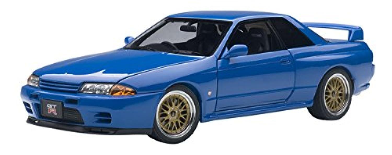 AUTOart 1/18 日産 スカイライン GT-R (R32) V-Spec II チューンド?バージョン ブルー 完成品