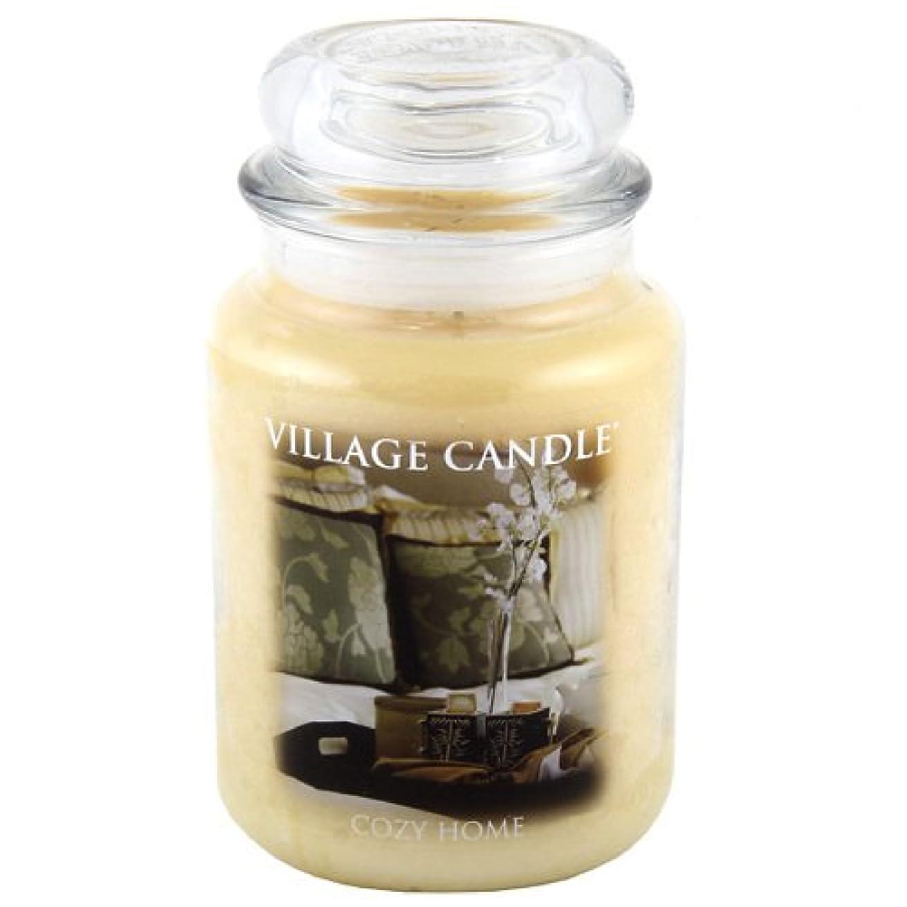 不屈パッチ楽しませるVillage Candle Large Fragranced Candle Jar - 17cm x 10cm - 26oz (1219g)- Cozy Home - upto 170 hours burn time...