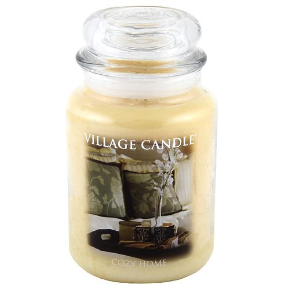 出撃者盗難グローバルVillage Candle Large Fragranced Candle Jar - 17cm x 10cm - 26oz (1219g)- Cozy Home - upto 170 hours burn time...