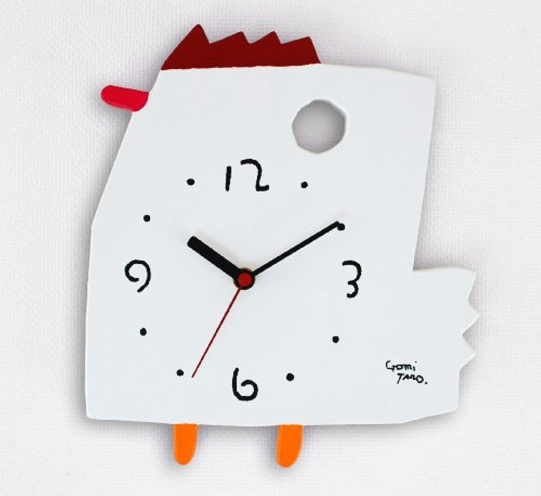 人気絵本作家 五味太郎デザイン 掛け時計 (ニワトリ) ※完全ハンドメイド品