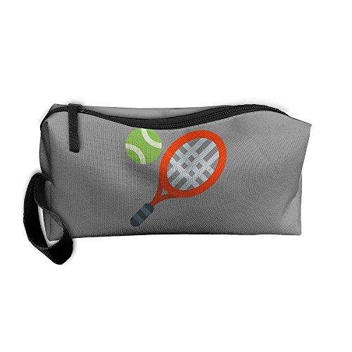 テニスラケットコスメティックバッグ旅行メイクアップバッグオー...
