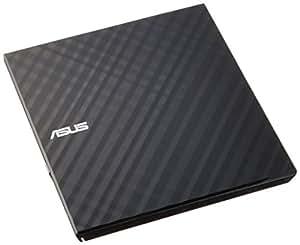 ASUS バスパワー対応 外付け ポータブルDVDドライブ 【 Win10対応 】スリムタイプ / Win10 Mac 両対応 書き込みソフト付属 ブラック SDRW-08D2S-U LITE