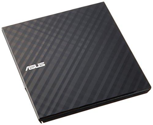 ASUS バスパワー対応ポータブルDVDドライブ 【 Windows10対応 】スリムタイプ / Windows Mac 両対応 書き込みソフト付属 ブラック SDRW-08D2S-U LITE