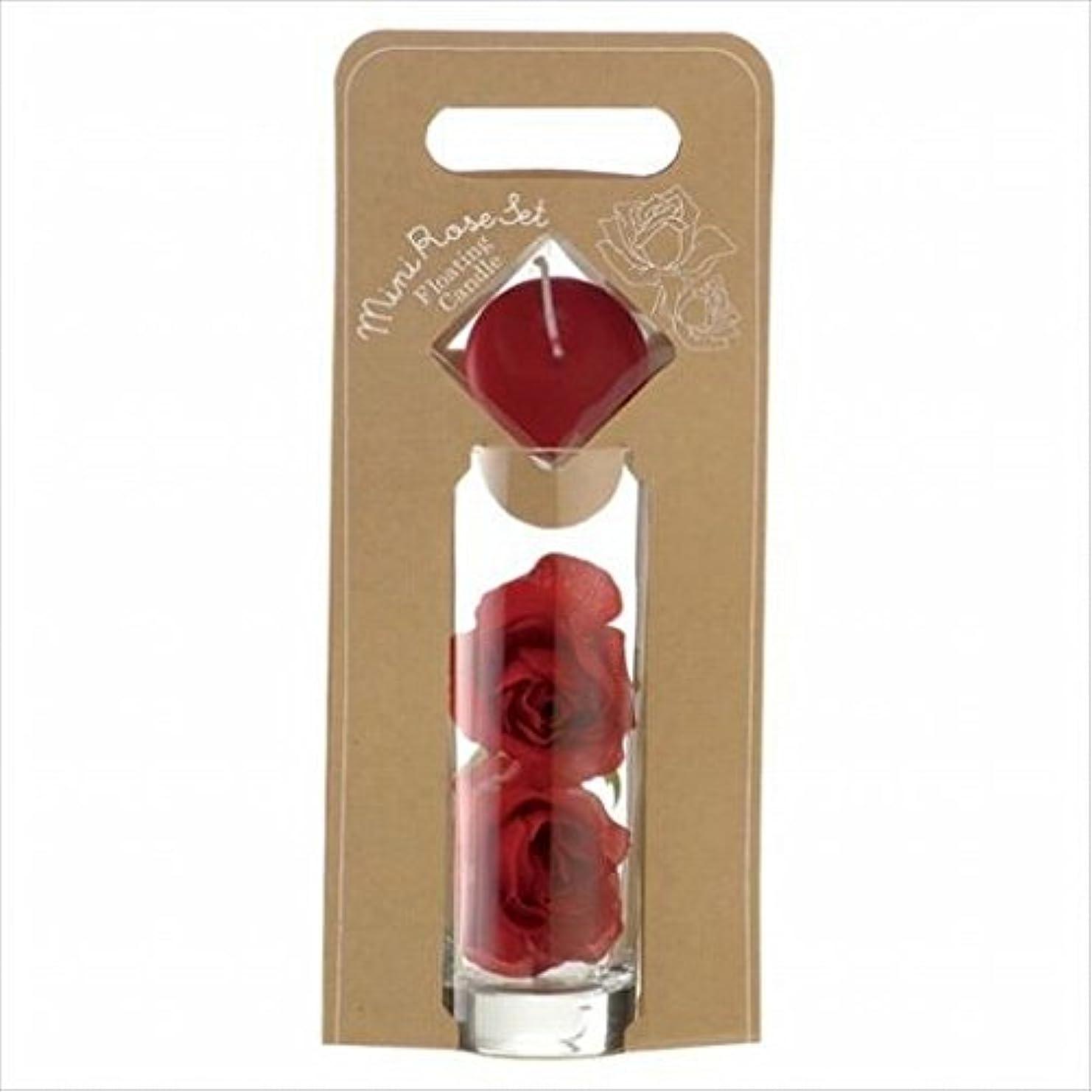 り円形のロードされたkameyama candle(カメヤマキャンドル) ミニローズセット 「 ワインレッド 」(A7620005WR)