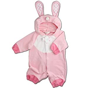 【ウサギ】着ぐるみ フード付き カバーオール 80cm ベビー コスチューム キグルミ 年賀状 ハロウィン