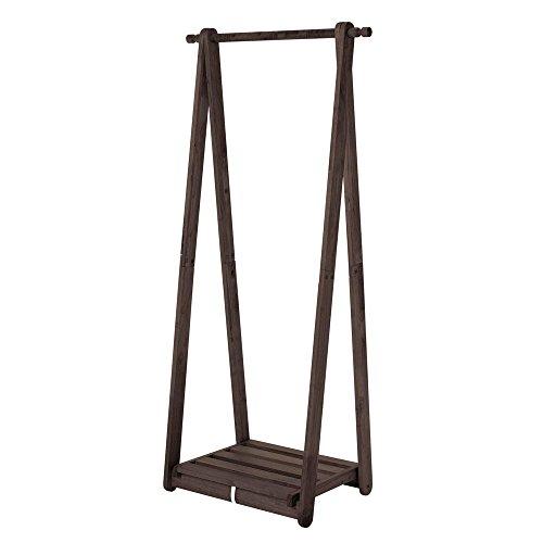 ハンガーラック 木製 幅75.5cm 天然木 耐荷重25kgま...