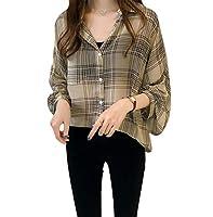 [アナトレ] レディース 長袖 チェック柄 ブラウス トップス シャツ ぷれぜんと 大きいサイズ きれいめ キレイメ スキニーパンツ パーティーワンピース 女の子 カットソー 30代