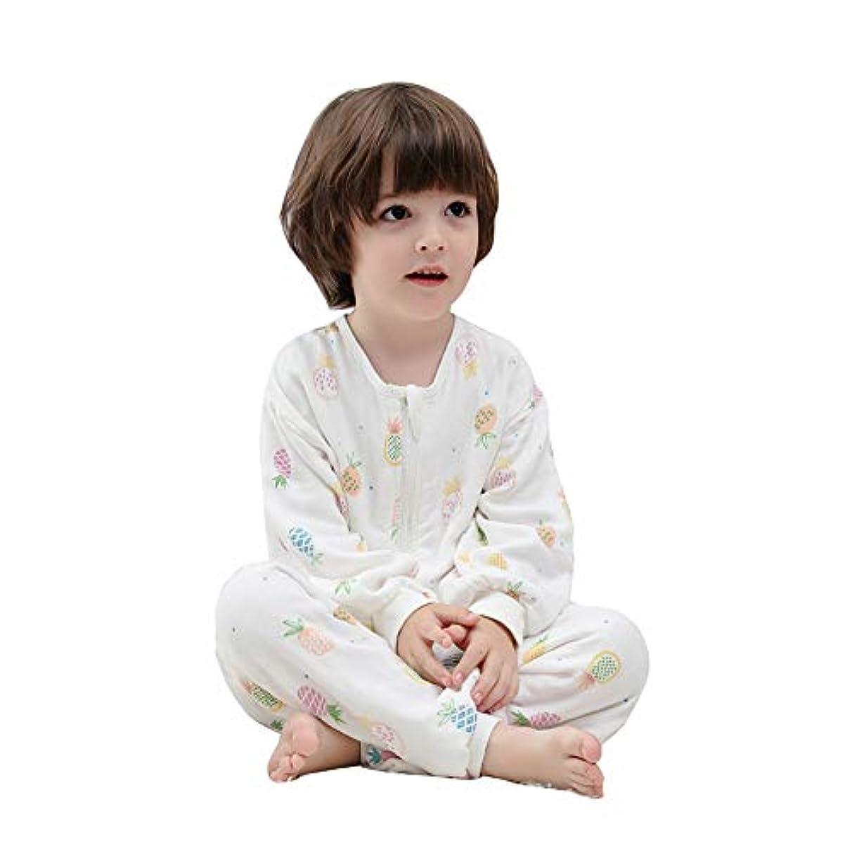 ガロンシダ先生ベビー寝袋 パジャマ 100%綿 6重ガーゼ 赤ちゃん用品 スリーパー ベビー服 カバーオール 春 夏 秋 着替え便利 男の子 女の子 柔らかい 通気性も抜群 子供用