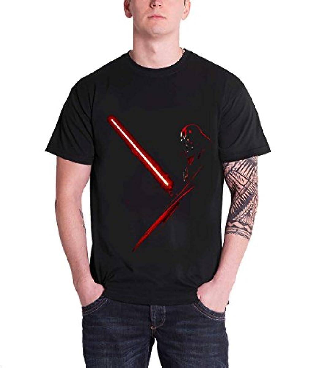 講義話す出口Star Wars スターウォーズ Vader Shadow 公式 メンズ ブラック 黒 Tシャツ