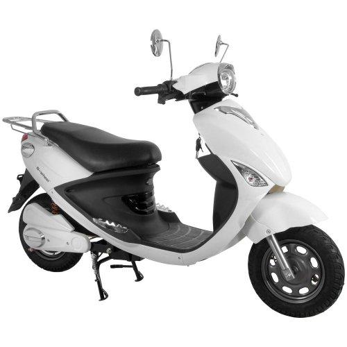 電動バイク ecolu MK ホワイト 【走行距離80km/長期1年保証】 MK-WH-T