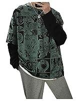 KXP メンズサマースポーツ半袖Tシャツ Green XL