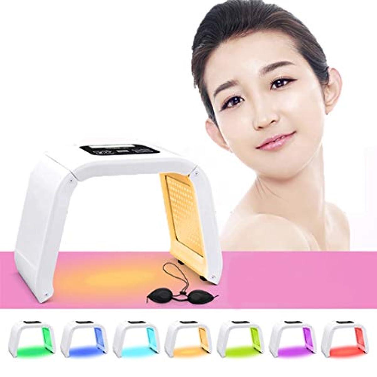 賞賛する雄弁平等若返りLED機器を皮膚、7色のLEDライトポータブル光子PDTにきび治療しわ除去健康な肌の若返りコラーゲンのためのアンチエイジング