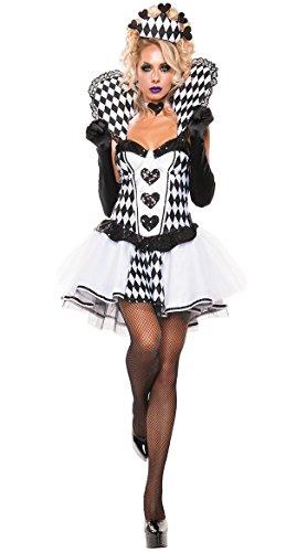 ハロウィン 仮装 ピエロ ヴァンパイア 衣装 魔女 コスプレ コスチューム パーティー グッズ (ホワイト)