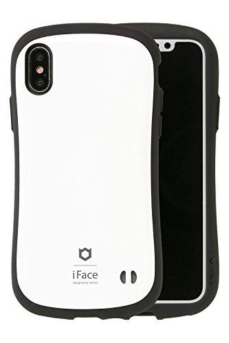 iPhone X ケース iFace First Class 耐衝撃 正規品 ストラップホール / ホワイト