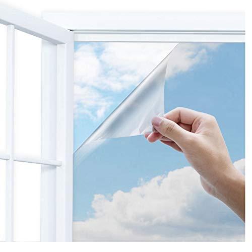 窓断熱シート めかくしシート Uiter マジックミラーフィルム 遮光 防寒 省エネ UVカット 飛散防止90×200cm