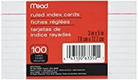Mead Index Cards Ruled 3 x 5 Inch White 100 Per Pack 4 PACK [並行輸入品]