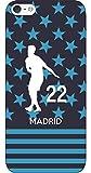 iPhone/Xperia/Galaxy/他機種選択可:サッカーシルエットケース(ホーム/ミックス/マドリッド_22番_B) 07 iPhone8