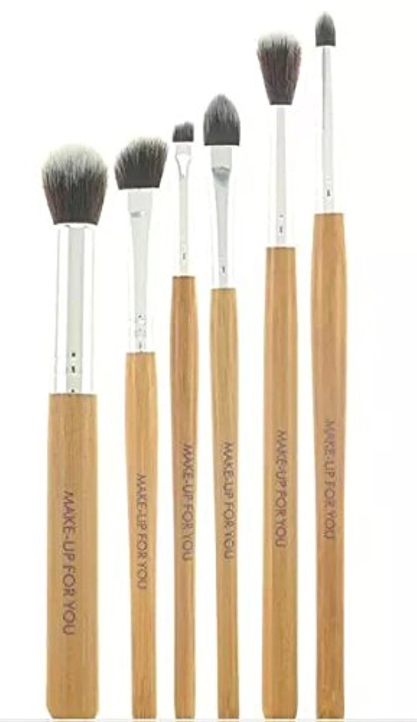 グループ遺伝的色合い(メイクアップエーシーシー) MakeupAccアイメイクブラシ6本セット 化粧筆 バンブー 柔らかい繊維 [並行輸入品]
