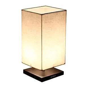 Begost テーブルランプ ファブリック ランプシェード 間接照明 モダン和風 スタンドライト LED電球 対応 卓上 リビング 寝室 インテリアに