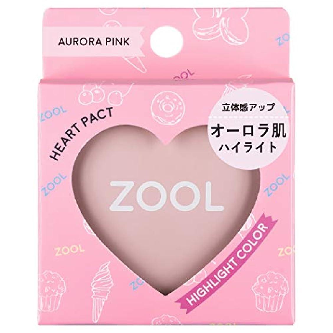 ZOOL (ズール) ハートパクト オーロラピンク (ハイライト) (1個)