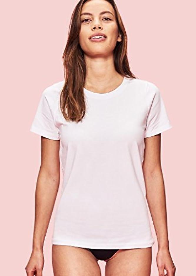 モーテルボアつらい1週間着続けてもニオわない(シルバーテック) Silver Tech Tシャツ レディース オーガニック 抗菌防臭 (S, ホワイト)