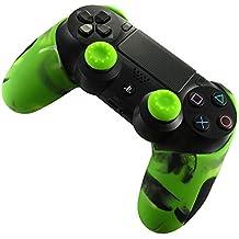BlueFire コントローラー シリコン カバー スキンシール ケース 交換用 PS4 プレイステーション4 対応用 ハンドル帽 2個付け(グリーン)