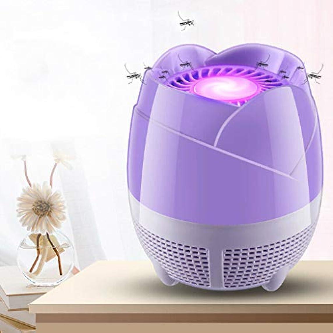カスタムアラブ人永遠の家庭用蚊取り器USB電子蚊取り器UV光源蚊取り器LED光触媒吸引式殺虫器キラートラップ吸入式蚊取り器、家庭用電子蚊取り器蚊忌避灯安全無毒蚊ランプ (紫の)