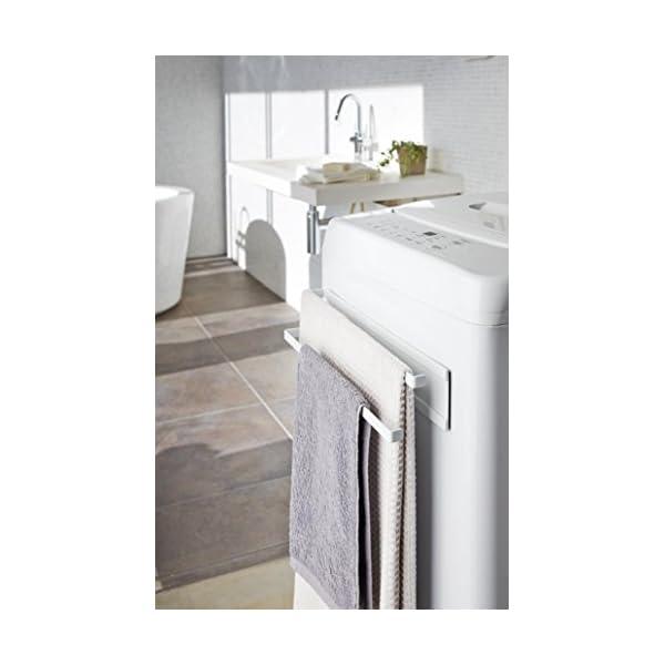 山崎実業 洗濯機横マグネットタオルハンガー2段...の紹介画像2