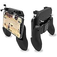 【改良版一体式】 PUBG Mobile 荒野行動 コントローラー ゲームパット 押しボタン&グリップの一体式 高感度射撃ボタン 高速射撃 スクリーンに優しい トリガー 一体ハンドル サイズ調節可能 手触り改良 優れたゲーム体験iPhone/Android 各種ゲーム対応