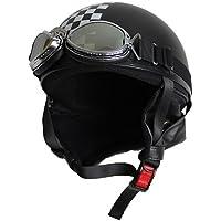 モトボワットBB ビンテージヘルメット マットブラック/チェッカー 1個