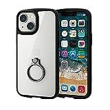 エレコム iPhone 5.4inch ハイブリッドケース TOUGH SLIM LITE フレームカラー リング付き ブラック PM-A21ATSLFCRBK