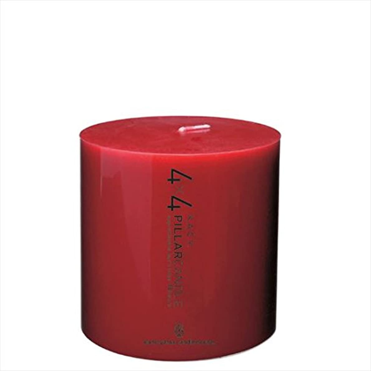 ケント旋律的叙情的なカメヤマキャンドル(kameyama candle) 4×4ピラーキャンドル 「 レッド 」
