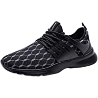 Waymine Men's Sneakers Comfortable Breathable Mesh Walking Running Climbing Shoes Solid Sport Shoes Basketball Shoes