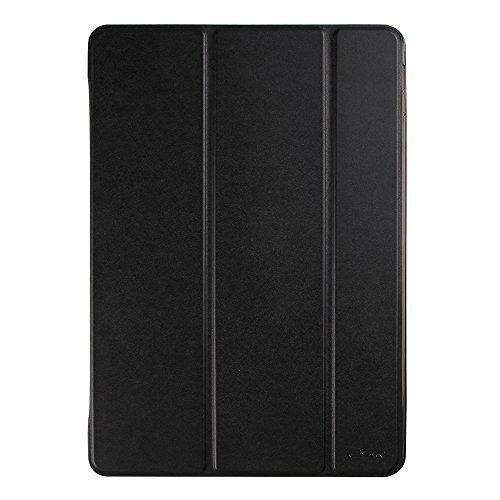ESR 新型 iPad 9.7 2017 ケース 超軽量 極薄 レザー 三つ折スタンド オートスリープ機能 スマートカバー 新しいApple iPad 9.7インチ 2017最新版専用 全10色(ダークブラック)